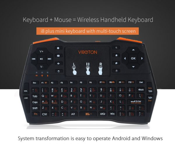 i8 Plus Handheld Mini Wireless Keyboard With TouchPad For Orange Pi  Raspberry Pi 3 Andriod TV Box/XBOX360 Gaming Keyboard
