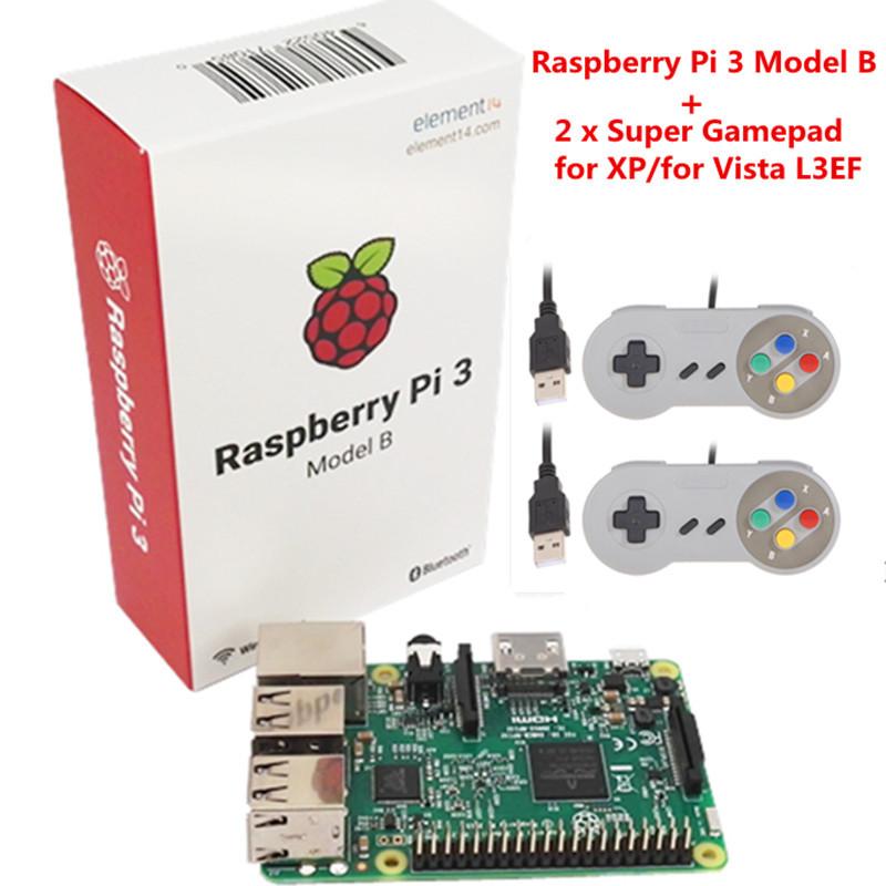 Raspberry pi 3 with Wifi & Bluetoothal Raspberry Pi 3 Model B +2 x  Raspberry PI Orange Pi USB Gamepad