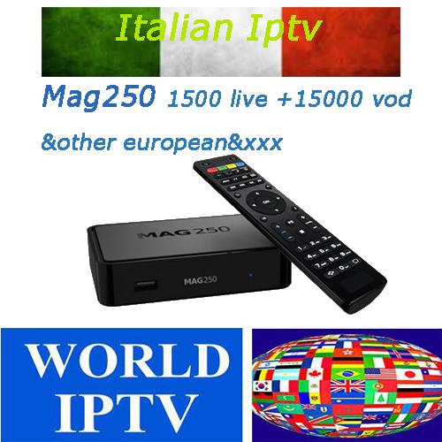 Boom mag250 Italian iptv subscription Smart TV Arabic iptv French Iptv  Europe iptv andorid box tv set box