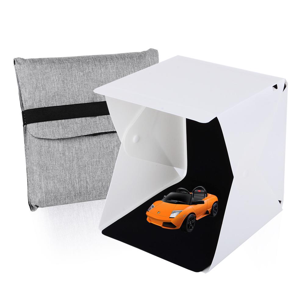 Mini Portable Folding Lightbox Photography Studio Box LED Light Softbox for  iPhone Samsang HTC DSLR Camera Photo Background