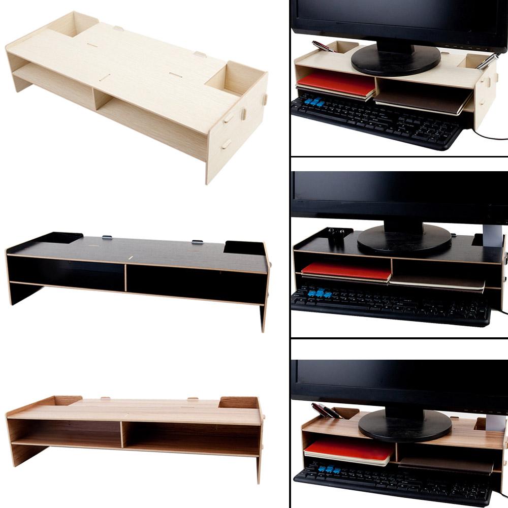 Peachy Besegad Decorative Wood Desktop Monitor Stand Riser Holder Over Keyboard Desk Organizer Storage Box Case For Computer Laptop Download Free Architecture Designs Xoliawazosbritishbridgeorg