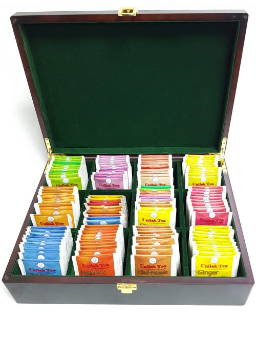 MPM PLAZA - Tea Box Luxury Large 12 Compartment With 220 Tea Bags (120in 10flav+100unflav)